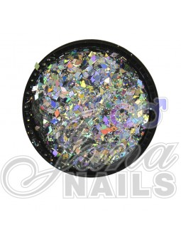 Multicolor Glitter MIX SILVER