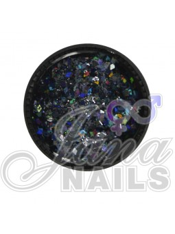 MULTICOLOR GLITTER MIX BLACK